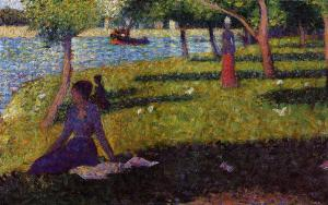 Georges Seurat - Seated and Standing Woman