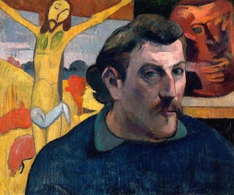 Autorretrato con el Cristo amarillo (Paul Gauguin, 1890