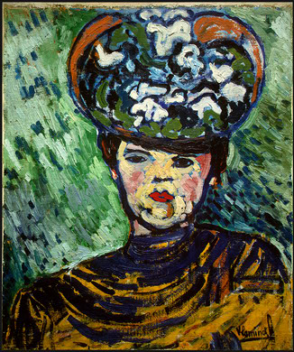 Maurice-de-Vlaminck-Woman-with-a-Hat